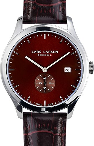 Lars Larsen Ayo Unisex Quartz Watch with Brown Dial Analogue Display and Brown Leather Strap 129SBBL