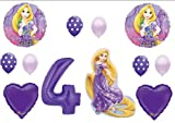 Tangled Rapunzel Disney 4TH BIRTHDAY PARTY Balloons Decorations Supplies