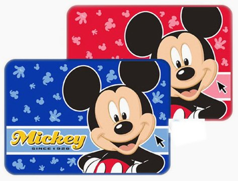 Red Mickey Mouse Bath Rug - Mickey Mouse Rug