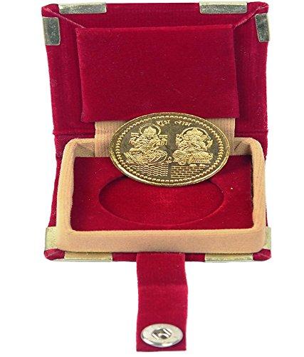 Coin Laxmi Ganesh Ji 24k Gold Plated 10 grams German Silver Coin  available at amazon for Rs.401
