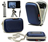 Navitech Blue Water Resistant Hard Digital Camera Case Cover & Compact Stand For The Samsung SMART CAMERA WB250F / WB800F / WB30F / ST150F / DV150F / WB150F / ST200F / WB850F / DV151F