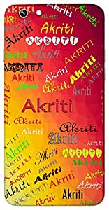 Akriti (Popular Girl Name) Name & Sign Printed All over customize & Personalized!! Protective back cover for your Smart Phone : Samsung Galaxy S5mini / G800