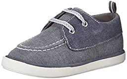 Baby Deer Canvas Walker Deck Shoe (Infant/Toddler), Navy/Grey, 2 M US Infant