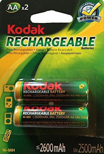 Kodak - Batterie AA HiMh, 2600mAh, confezione doppia