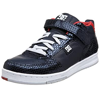 DC Men's Azure Mid LX Sneaker,Navy/Red,8.5 M