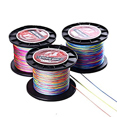 Sougayilang Colorful 546yards 12-72lb 4-strand Braided Fishing Line from Yunonng