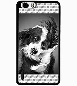 ColourCraft Cute Dog Design Back Case Cover for HUAWEI HONOR 6 PLUS