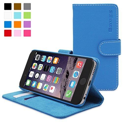 英国Snugg製 iPhone6用 PUレザー手帳型ケース - 生涯補償付き (エレクトリックブルー)