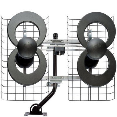 ANTENNAS DIRECT INC. C4-CJM ClearStream(TM) 4 UHF Outdoor Antenna with 20″ Mount