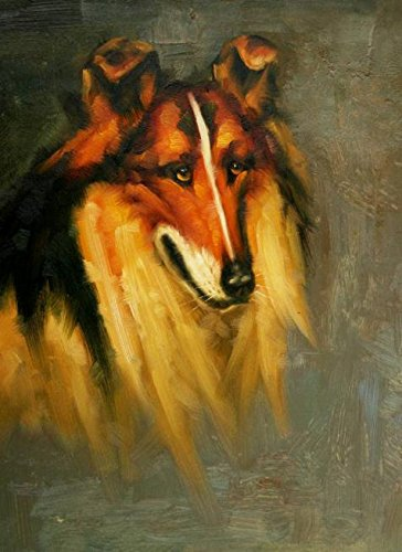 The High Quality Polyster Canvas Of Oil Painting 'a Brown Dog' ,size: 24x33 Inch / 61x84 Cm ,this High Resolution Art Decorative Canvas Prints Is Fit For Powder Room Gallery Art And Home Decoration And Gifts