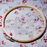 Leoniemart Fashion style 23cm New Natural Bamboo Round Machine Embroidery Hoop Ring Wooden Cross Stitch Practical