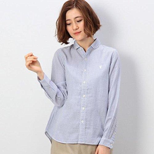 コーエン(レディース)(coen) ダブルガーゼストライプシャツ【ネイビー/M(50)】