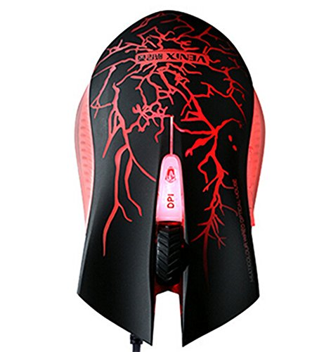 Firetea Classic Fierce Grain Paint Optic Wired Mouse