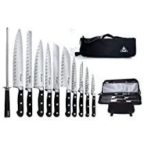 Saber F-11 Working Chef Knives with Chefs Knife Bag