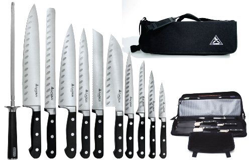Saber F-11 Working Chef Knives with Chef's Knife Bag,