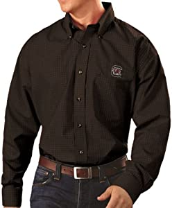 South Carolina Gamecocks Antiqua NCAA Esteem Long Sleeve Button Down Dress Shirt by Antigua