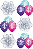 Disney Frozen Balloons Set - Party Decorating Kit - 12 Balloons Total Snowflakes and Elsa / Anna