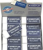 Staedtler Mars Latex-Free Eraser, White, 20/Pk with FREE Holder Limited Edition