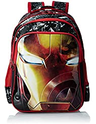 Iron Man Polyester 18 Inch Black And Red Children's Backpack (MBE-WDP0516)