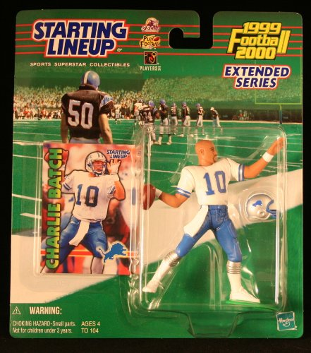 CHARLIE BATCH / DETROIT LIONS 1999-2000 * EXTENDED SERIES * NFL Starting Lineup Action Figure & Exclusive NFL Collector Trading Card