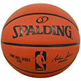 Spalding NBA Mini 2-Panel Basketball, Orange, Mini/Size 3/22-Inch