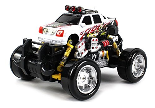 Graffiti Cadillac Escalade Ext Remote Control Rc Drift Truck 1:18 Scale 4 Wheel Drive Ready To Run Rtr, Working Spring Suspension, Perform Various Drifts (Colors May Vary)