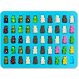 Gummy Bears Molds for Hard Candy & Chocolate Making- Silicone Soap and Ice Cube Trays- Party Buffet, Baking, Wedding Favor Maker & Baby Shower Supplies - Novelty / Silly Shapes - 50 Cavity (2)