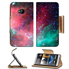 buy Nebulae Infrared Pink Teal Color Htc One M7 Flip Cover Case With Card Holder Customized Made To Order Support Ready Premium Deluxe Pu Leather 5 11/16 Inch (145Mm) X 2 15/16 Inch (75Mm) X 9/16 Inch (14Mm) Msd Htc One Professional Cases Accessories Open Cam