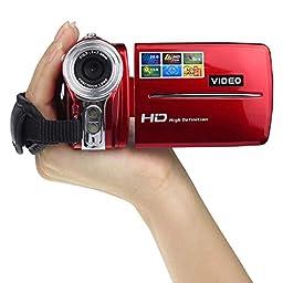 Sannysis(TM) 1PC Luxury 3In TFT LCD 20MP Digital Video Camcorder 16x Digital Zoom DV Camera(Red)