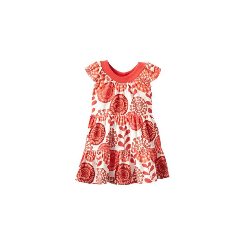 Tea Collection Baby Girls Infant Surf Floral Twirl Mini Dress, Milk, 6 12 Months