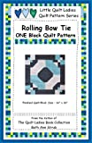 Rolling Bow Tie One Quilt Block Pattern (Little Quilt Ladies Quilt Pattern Series)