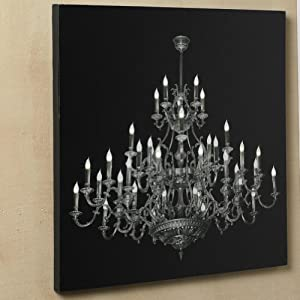 LED Chandelier Photo Realistic Lighted Canvas Print
