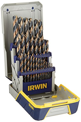 IRWIN Tools Black and Gold High-Speed Steel Drill Bit, 29-Piece Set with Metal Index Case (3018005)