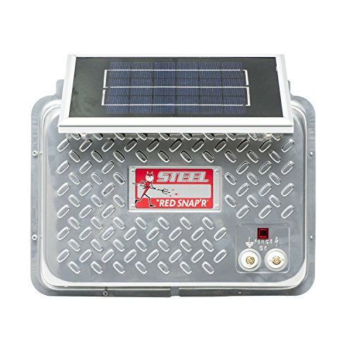 Red Snap'r ESP12V-RSS Steel 12V Solar Fence Charger ...