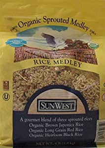 Amazon.com : Sun West Organic Sprouted Medley Rice 4lbs