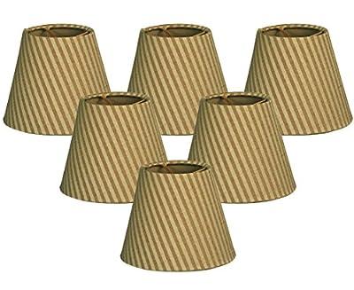 Royal Designs Hardback Empire Gold/Green Chandelier Lamp Shade