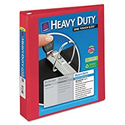 Avery Dennison Heavy-Duty View Binder with One Touch EZD Rings, 1 1/2\