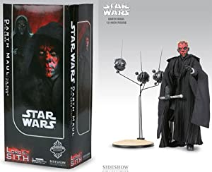 "Sideshow Collectible Inclusive Edition Darth Maul 12"" Figure and Sith Probe Droid Expansion Pack Combo Set"