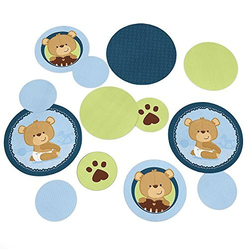 Baby Boy Teddy Bear - Party Table Confetti - 27 Count (Teddy Bear Theme compare prices)