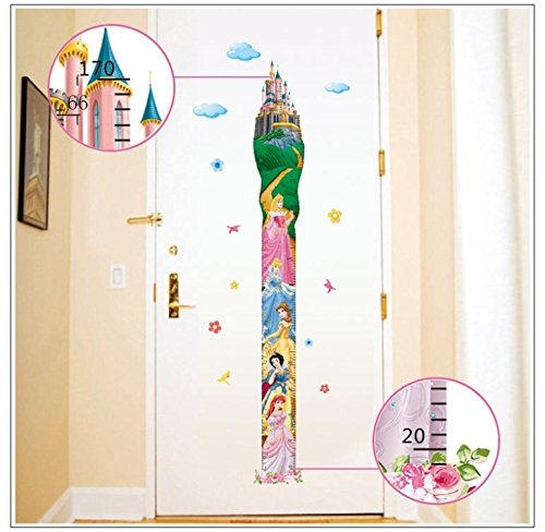 FairyTeller Height Measure Fairy Tale Princess Wall Stickers For Kids Rooms Girls Boys Rooms Diy Home Decoration Wall Decals Poster Mural (Tank Measuring Stick compare prices)