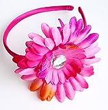 Daisy Flower Tie Dye Style Fashion Headband Hair Accessory for Girls - Fucshia Pink