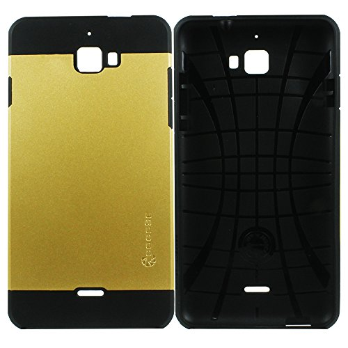 Heartly Cocose Hybrid Slim Dual Layer Hard Rugged Armor Bumper Back Case Cover For Micromax Canvas Nitro A310 A311 Dual Sim - Mobile Gold