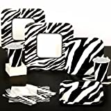 Animal Print Zebra Standard Pack for 8