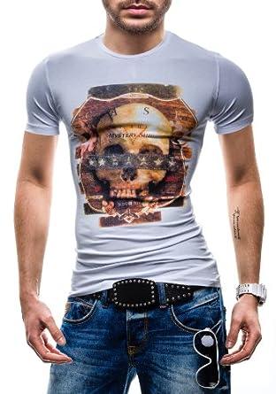 RONIDA - T-Shirt à manches courtes - RONIDA 4665 - Homme - M Blanc [3C3]