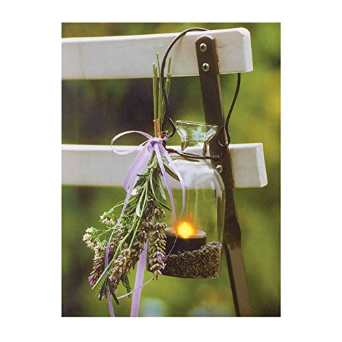 LED Lavender Lantern Canvas Wall Art (Bbq Canvas Art compare prices)