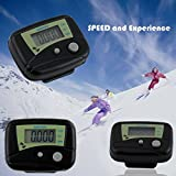 Buyincoins LCD Run Step Pedometer Walking Distance Calorie Counter (Black)