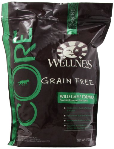 Wellness Core Wild Game Formula Dry Dog Food For Pets, 4-Pound