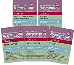 Oswaal CBSE CCE Question Bank with Complete Solutions for Class 10 Term II (October to March 2017) English Communicative, Hindi B, Science, Social Science & Mathematics