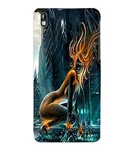 ColourCraft Digital Girl Design Back Case Cover for HTC DESIRE 816