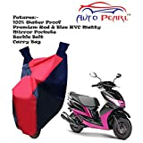 100% Water Proof PVC Bike Body Cover With Mirror Pockets, Buckle Belt, Carry Bag - Yamaha Ray